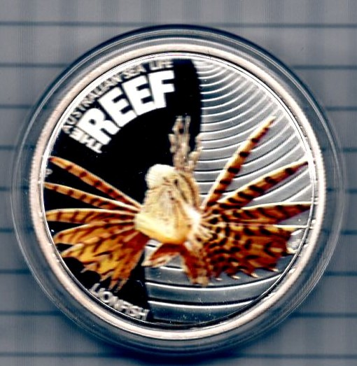 Australia 50 Cents 2009 Silber PP The Reef Lionfish  +++K003+++