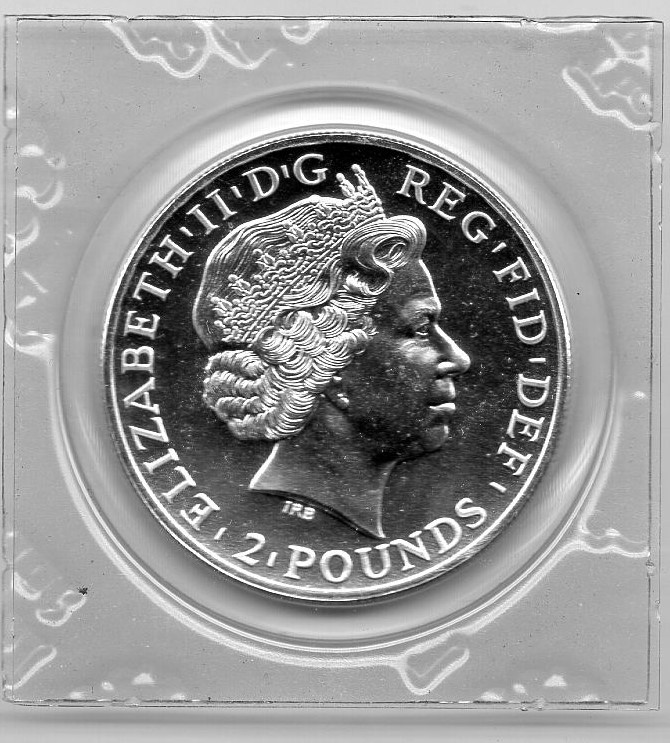Great Britain 2011 Two Pounds Britannia Silber  +++K003+++