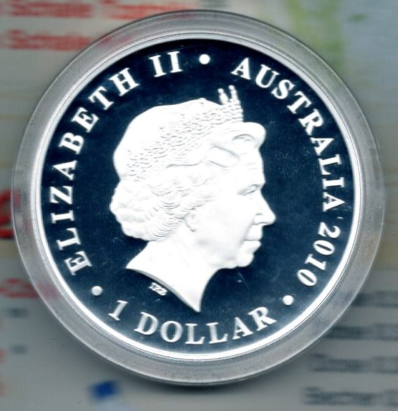 Australia One Dollar 2010 Silber PP Burke & Wills  +++K004+++
