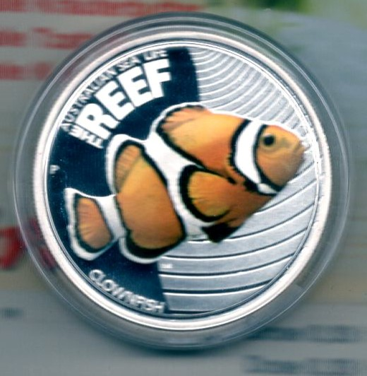 Australia 50 Cents 2010 Silber PP The Reef Clownfish  +++K004+++