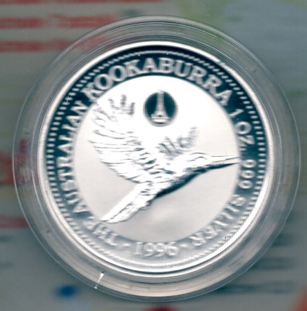 Australia One Dollar 1996 Silber Kookaburra Privy France  +++K004+++