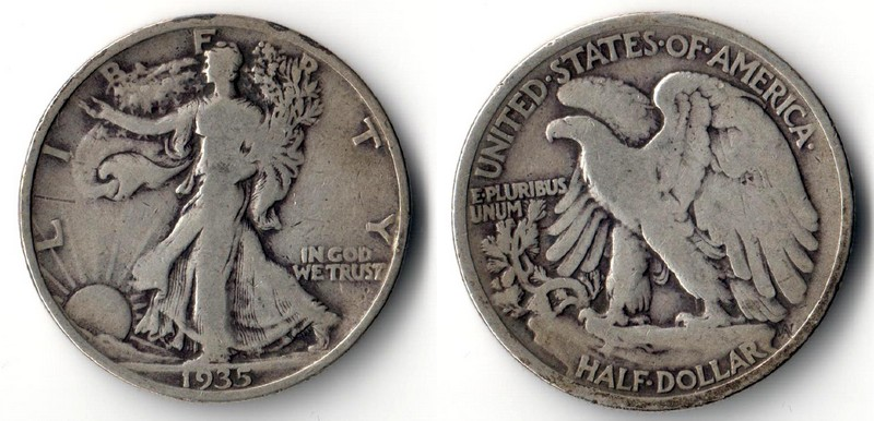 USA    Half Dollar  1935  Walking Liberty    FM-Frankfurt   Feinsilber: 11,25g