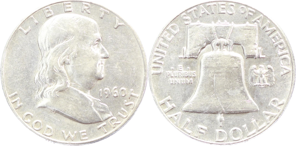 USA, Franklin Half Dollar 1960