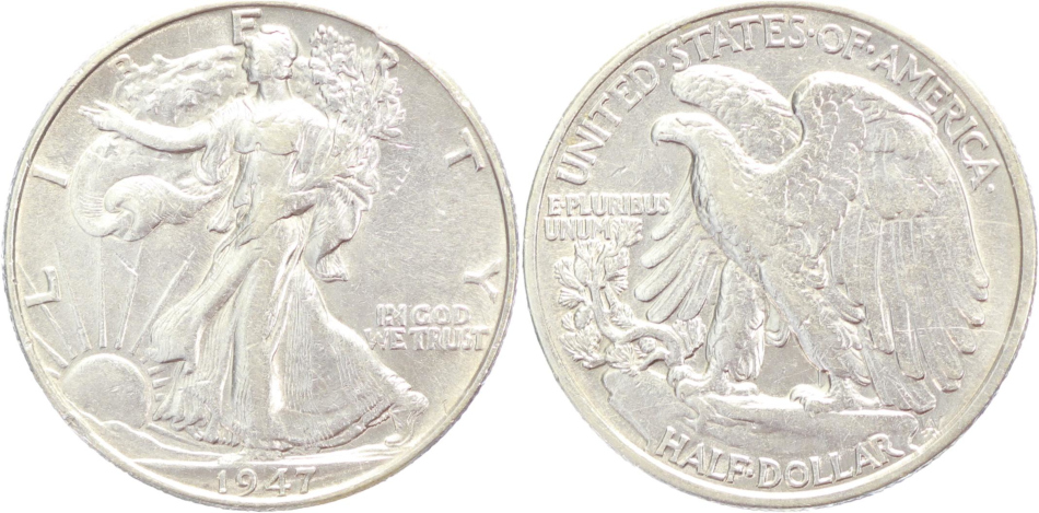 USA, Walking Liberty Half Dollar 1947