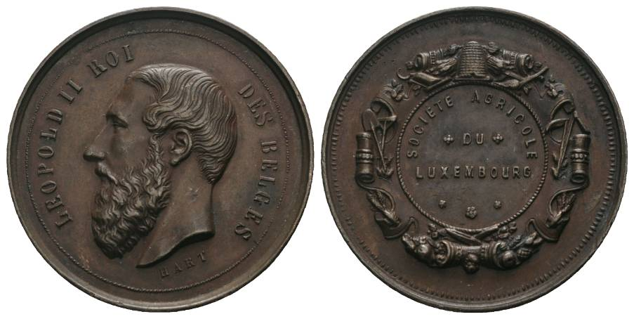 Luxembourg, Bronzemedaille o.J.; 26,08 g, Ø 41 mm
