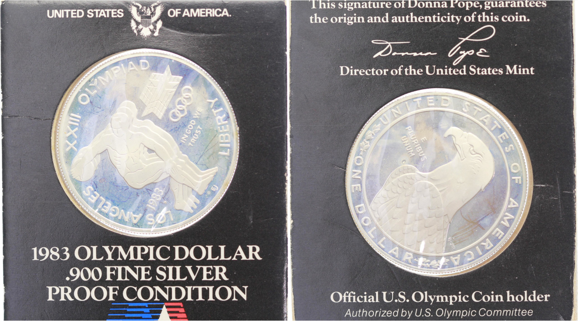 USA, Dollar 1983 S, Proof, im Blister