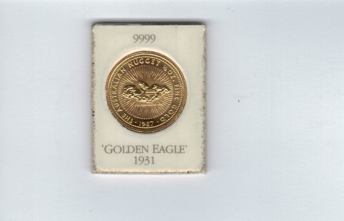 25 Dollar 1987 1/4 OZ Golden Eagle Nugget Australien Spittalgold9800 (5475)