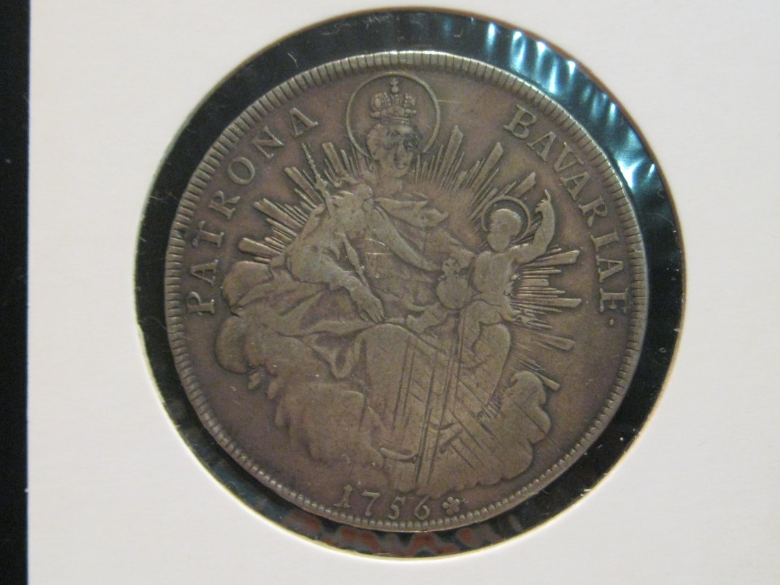 GERMANY 1 THALER 1756 BAVARIA.GRADE-PLEASE SEE PHOTOS AND READ BELOW.