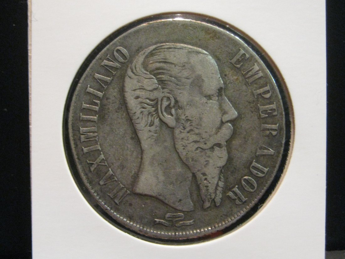 MEXICO 1 PESO 1866 PI.GRADE-PLEASE SEE PHOTOS.