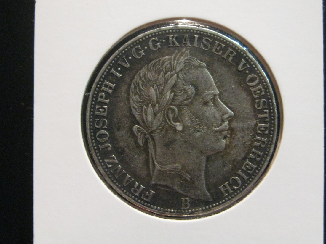 AUSTRIA 1 THALER 1858 B. GRADE-PLEASE SEE PHOTOS AND READ BELOW.