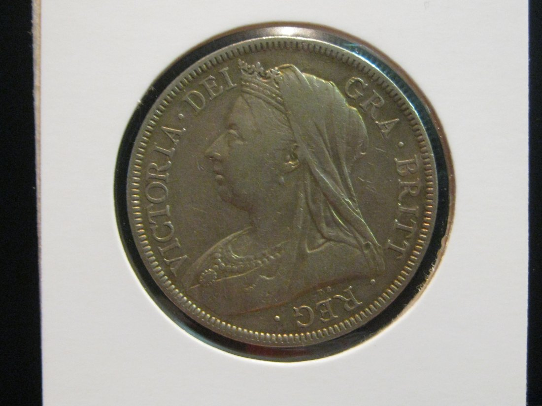 GREAT BRITAIN 1/2 CROWN 1893.GRADE-PLEASE SEE PHOTOS.