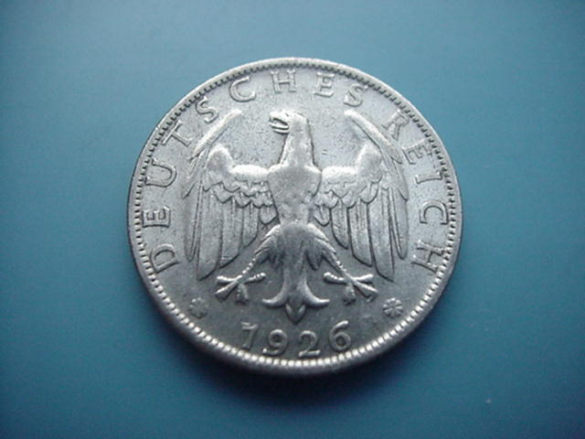Weimarer Republik 2 Mark 1926 D-Silber
