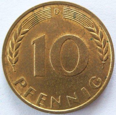 Muenzauktioncom 1988413 Brd 10 Pfennig 1950 D Vz Unc