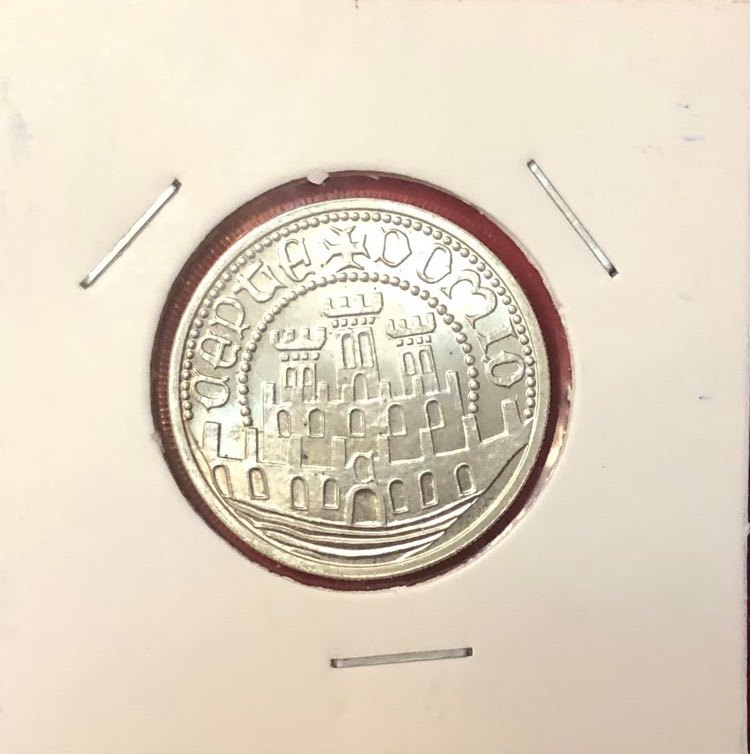 PORTUGAL - 500$00 - SILVER COIN - XVII SCIENCE, ART AND CULTURE EXHIBITION - 1983