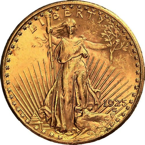 USA 20 Dollars 1925. St. Gaudens GOLD 1 OZ