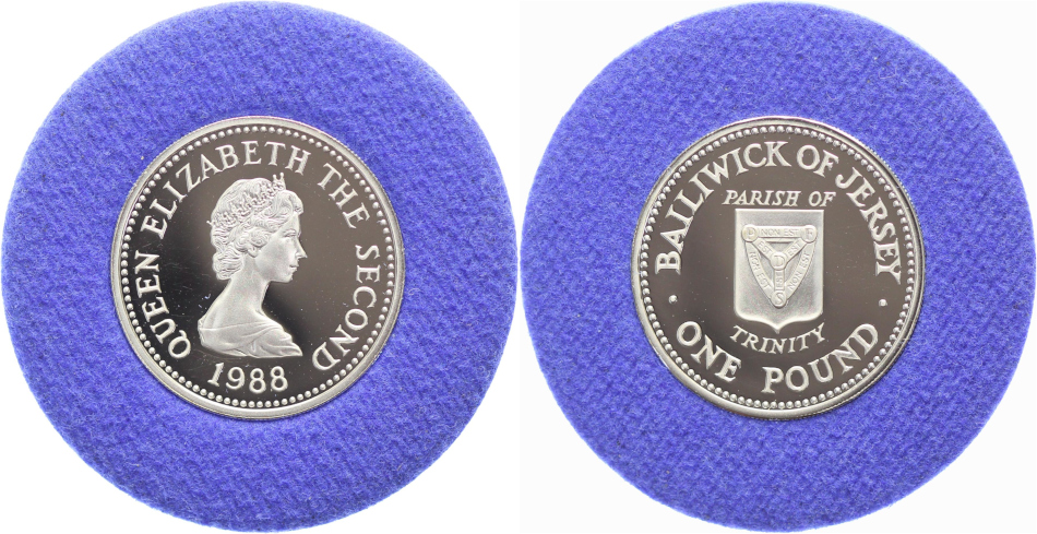 Jersey, Pound 1989 Proof, Parish of Trinity