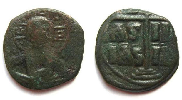 Class B ANONYMOUS follis of Christ / Time of Romanus III (1028-1034) AD. / Constantinople